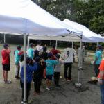 夏季合宿訓練防災キャンプ 開村式